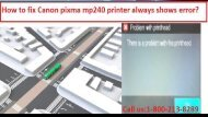 18002138289 Fix Canon pixma mp240 printer always shows error