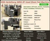Buy Used 2000 SM52-2P Heidelberg Printing Presses Machine