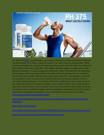 PH375 - FAT BURNER  SUPPLEMENT