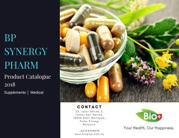 BP Synergy Pharm Catalogue 2018