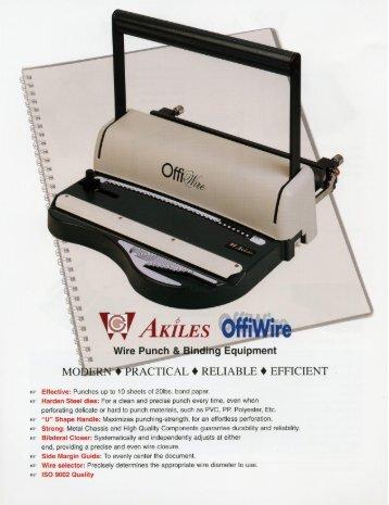OffiWire-31 & Offiwire-21 Akiles Wire Binding Machine - PrintFinish.com