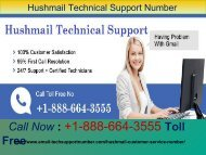 Hushmail Tech Support Phone Number +1-888-664-3555