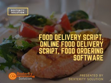 Food Delivery script, Online food delivery script, Food ordering software
