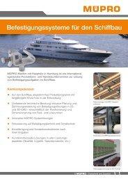 MÜPRO Befestigungssysteme für den Schiffsbau DE