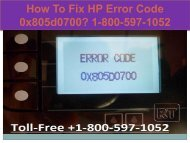 Call +1-800-597-1052 Fix HP Error Code 0x805d0700
