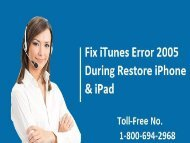 Dial 1-800-694-2968 Fix iTunes Error 2005 During Restore iPhone/ iPad