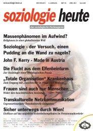 soziologie heute April 2013
