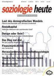 soziologie heute Juni 2013