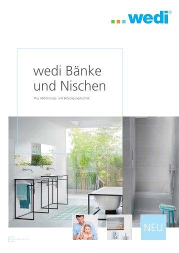 wedi Bänke und Nischen