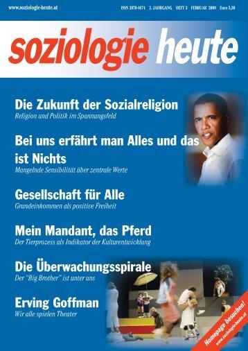 soziologie heute Februar 2009