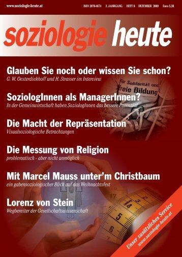 soziologie heute Dezember 2009