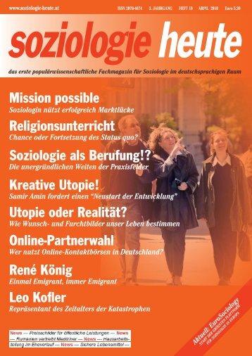soziologie heute April 2010