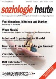 soziologie heute Juni 2010