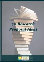 50 Research Proposal Ideas