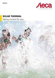 Steca Elektronik Catalog Solar thermal (06 2018)