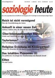 soziologie heute Oktober 2010