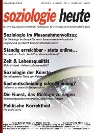 soziologie heute Dezember 2010