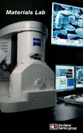 Materials Lab Equipment List - The Fisher-Barton Group