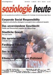 soziologie heute April 2011