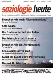 soziologie heute August 2011