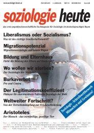soziologie heute Oktober 2011