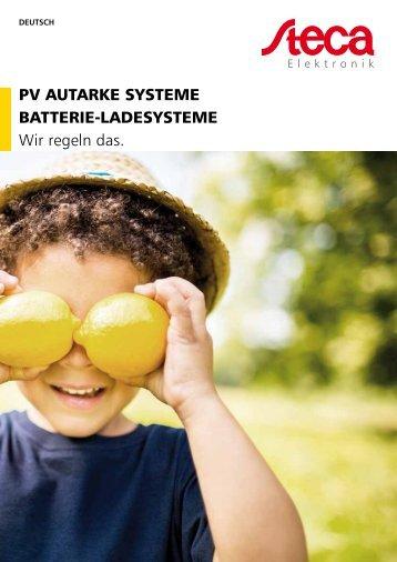 Steca Elektronik Katalog PV Autarke Systeme (06|2018)