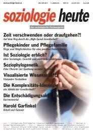soziologie heute August 2012