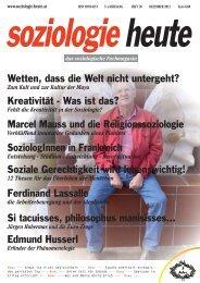 soziologie heute Dezember 2012