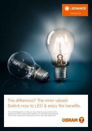 Switch now to LED and enjoy the benefits