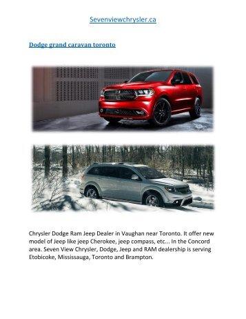 Dodge grand caravan_toronto