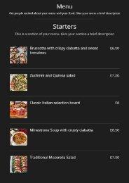 menu flipbook