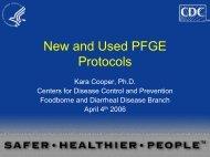 New and Used PFGE Protocols