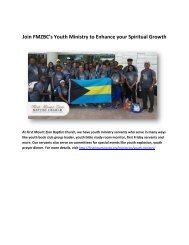 Join FMZBC's Youth Ministry to Enhance your Spiritual Growth