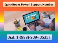 Call 1-888-909-0535 QuickBooks Payroll Technical Support Phone Number