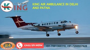 king air ambulance in delhi and patna