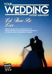 Your Wedding Entertainment - The Romance Issue