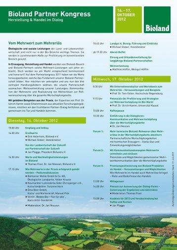 Bioland Partner Kongress