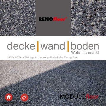 RenoFloor MODULOFloor TrendDesign Zink