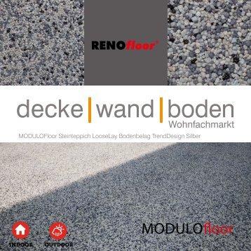 RenoFloor MODULOFloor TrendDesign Silber