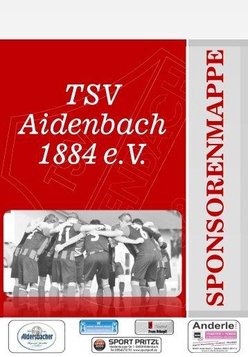 Sponsorenmappe  TSV