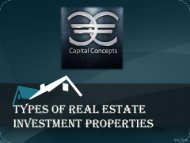 Types of Real Estate Investment Properties