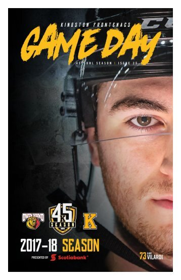 Kingston Frontenacs GameDay February 9, 2018