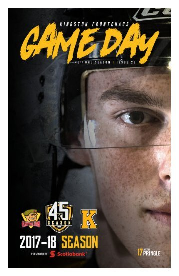 Kingston Frontenacs GameDay February 11, 2018