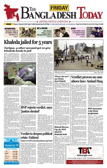 The Bangladesh Today (09-02-2018)