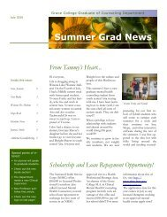 summer 2010 newsletter - Grace College and Seminary