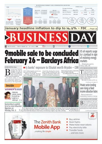 BusinessDay 09 Feb 2018