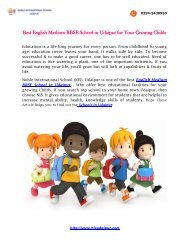 Best English Medium RBSE School in Udaipur for Your Growing Childs