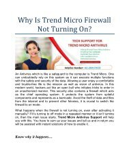 Why Is Trend Micro Firewall Not Turning On?