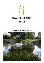 2018 årsprogram Haveselskabet Hals