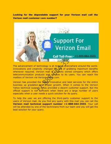 verizon internet technical support